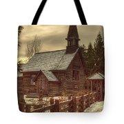 St Anne's Church In Winter Tote Bag