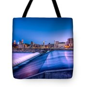 St. Anthony Falls In Minneapolis Tote Bag