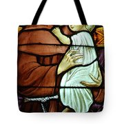 St Anthony In Stained Glass Tote Bag