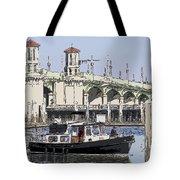 St Augustine Bridge View Tote Bag