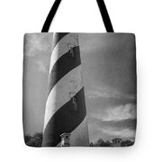 St Augustine Lighthouse Bw Tote Bag