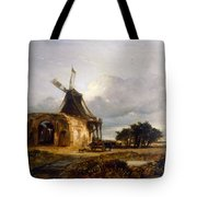 St Benets Abbey And Mill, Norfolk, 1833 Tote Bag