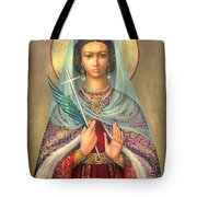 St. Catherine Tote Bag by Zorina Baldescu