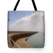 St Catherine's Breakwater - Jersey Tote Bag by Joana Kruse