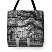St. Charles Ave. Mansion 2 Bw Tote Bag