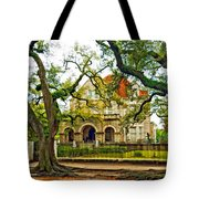 St. Charles Ave. Mansion Paint Tote Bag