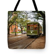 St. Charles Ave. Streetcar In New Orleans Tote Bag