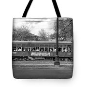 St. Charles Ave. Streetcar Monochrome Tote Bag