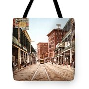 St Charles Street New Orleans 1900 Tote Bag by Unknown