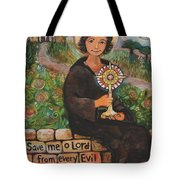 St. Clare Of Assisi Tote Bag