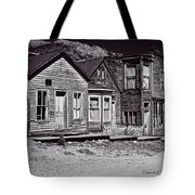 St Elmo In Black And White Tote Bag
