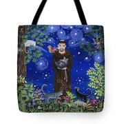St. Francis And Spike Tote Bag