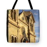 St. Francis Cathedral - Santa Fe Tote Bag by Mike McGlothlen