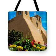 St Francis D'asis Mission Church. Taos New Mexico Tote Bag