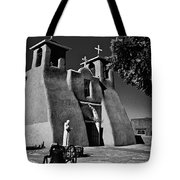 St Francis In Black And White Tote Bag