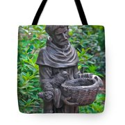 St Francis Of Assisi Garden Statute Tote Bag