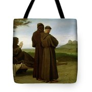 Saint Francis Of Assisi, While Being Carried To His Final Resting Place At Saint-marie-des-anges Tote Bag