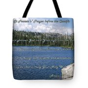 St Francis Prayer Before The Crucifix Tote Bag
