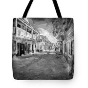 St George Street St Augustine Florida Painted Bw Tote Bag