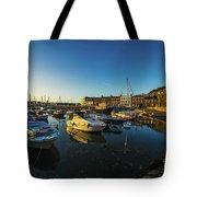 St Hellier Harbour  Tote Bag