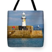 St Ives And Godrevy Lighthouses Cornwall Tote Bag