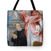 St. Jerome And A Donor Tote Bag
