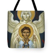St. Joan Of Arc With St. Michael The Archangel 042 Tote Bag
