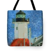 St. Joseph Lighthouse Lake Michigan Tote Bag