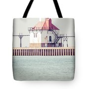 St. Joseph Lighthouse Vertical Panorama Photo Tote Bag