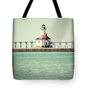 St. Joseph Lighthouse Vintage Picture  Tote Bag