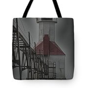 St. Joseph North Pier Lighthouse Lake Michigan Tote Bag