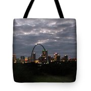 St. Louis Arch At Dusk From The Train Tote Bag