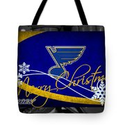 St Louis Blues Christmas Tote Bag