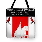 St. Louis Cardinals 1931 World Series Program Tote Bag