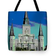 St Louis Cathedral 3 Tote Bag