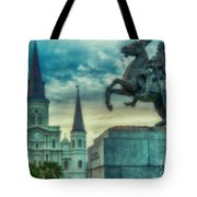 St. Louis Cathedral And Andrew Jackson- Artistic Tote Bag