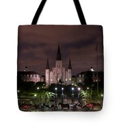 St. Louis Cathedral In Jackson Square Tote Bag