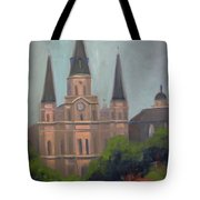 St. Louis Cathedral Tote Bag by Lilibeth Andre