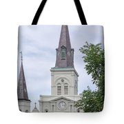 St. Louis Cathedral Through Trees Tote Bag