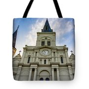 St Louis Cathedral Twilight Tote Bag