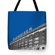 St Louis Skyline Budweiser Brewery - Royal Blue Tote Bag