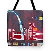 St. Louis Skyline License Plate Art Tote Bag