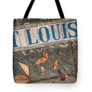 St Louis Street Tiles In New Orleans Tote Bag