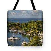 St Lucia Harbor Tote Bag