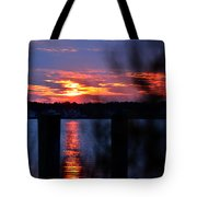 St. Marten River Sunset Tote Bag