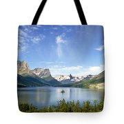 St. Mary Lake And Wild Goose Island Tote Bag