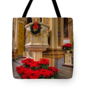 St. Mary Of The Angels Christmas Lectern Tote Bag