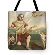 St. Michael The Archangel Tote Bag by Shelley Irish