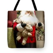 St Nick Teddy Bear Tote Bag