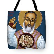 St. Padre Pio Mother Pelican 047 Tote Bag